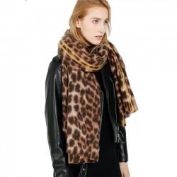 El nuevo chal de leopardo de cachemira mantiene la bufanda de mujer espesa de leopardo caliente