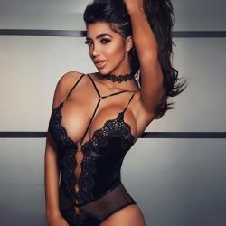 Moda sexy flor de encaje bordado empalme Bustiers mujeres lencería