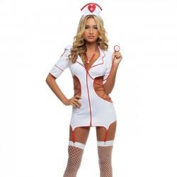 Sexy Cosplay Enfermera Uniforme Mujer Lencería íntima