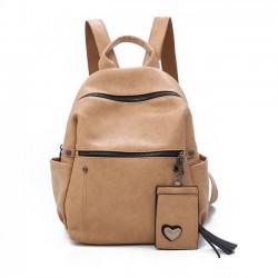 Mochila escolar de la mochila del estudiante del ocio del cuero de la PU suave pura retra