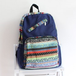 Fashion Folk Geometry Totem Canvas Backpacks