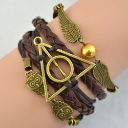 Deathly Hallows Wings Owl  Bracelet