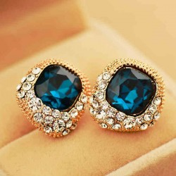 Lujo Diamante de imitación Cristal Boda Aretes