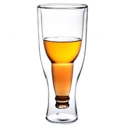 Taza de cristal doble de la botella del tirón de la mano-volada creativa