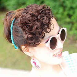 Linda pequeña primavera Curl Bang Hair trama