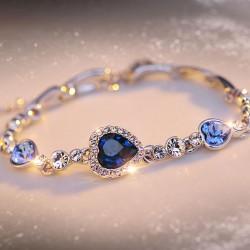 Pulsera de cristal de amor romántico corazón