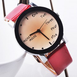 Fashion Cute Simple Black Border Watch