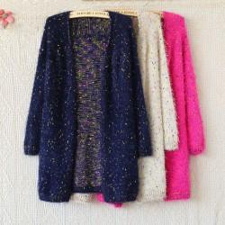 Leisure Elegant Mohair Dot Sweaters
