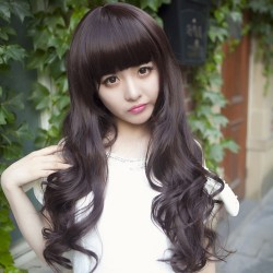 Pelucas de cabello ondulado suelto largo super suave