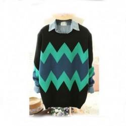 Vintage Geometric Texture Slim Sweater