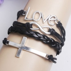 Cross Infinity Love Weave Bracelet
