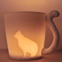 Taza de la taza de la vela / la taza heladas ligeras animales del bosque de hadas