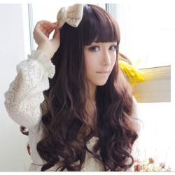 Moda dulce espiral fibra ondulada pelucas largas