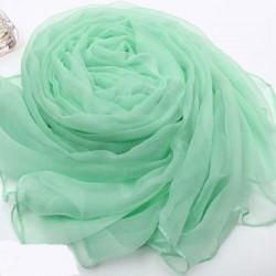 Bufanda de gasa de seda de color morado suave