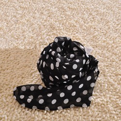 Sweet Wave Point Chiffon Infinity Scarf