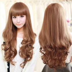 Sweet Girl 24 pulgadas de largo cabello ondulado encaje pelucas