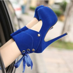 Sexy Nightclub Straps Bow Super High Heels