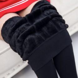 Pantalones de pantalones de cintura alta de desgaste exterior de invierno de gran tamaño de las mujeres