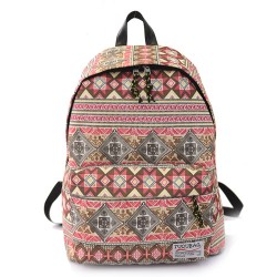 Harajuku estilo Popular Elefante Geométrico Impreso Bolsa para la escuela viajar mochila mochila
