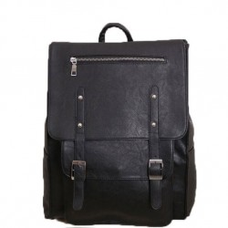 Mochila de mochila de cuero de la mochila británica Vintage College de la vendimia