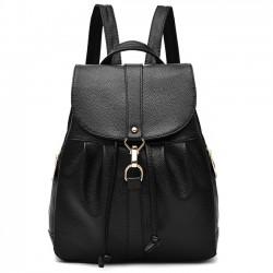 Moda Lichee patrón de la PU de la muchacha del doblez del metal de la aleta de la cerradura de la mochila de viaje de ocio mochila