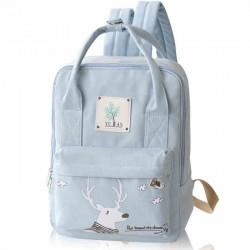 Mochila multifuncional de lona de la mochila de la universidad de Deer Girl de la historieta