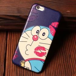 Estuches suaves del silicón de la relevación del genio del caramelo de Mario Red Lip Doraemon para Iphone 5 / 5S / 6 / 6S