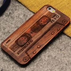 La cinta de audio Crowne piratea la caja fina de madera para Iphone 5 / 5S / 6 / 6Plus