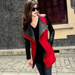 Abrigo de chaqueta de color cálido Abrigo de piel de color de abrigo Abrigo de chaqueta
