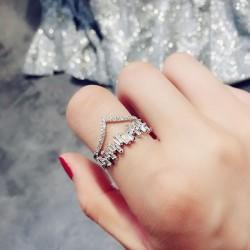 Brillando lindo Exageración Diamante completo Ajustable Anillo abierto