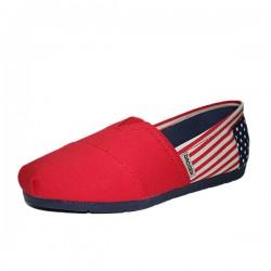 Zapatos ocasionales flojos de la lona del afluencia de verano