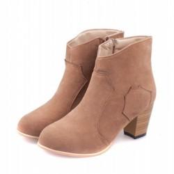 Botas de cuero de nobuk con cremallera lateral casual Martin Boots