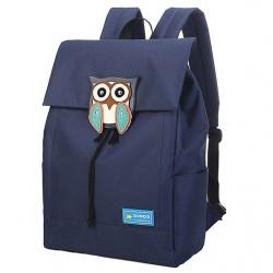 Búho lindo impermeable mochila universitario Ocio sólido viaje mochilas de lona