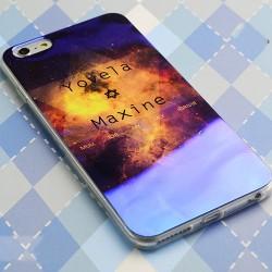 Estuche suave fino del gel de silicona de la estrella del universo de la fantasía para Iphone 5 / 5S / 6 / 6Plus
