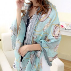 Bufanda del paño grueso y suave de la toalla de playa del reloj de las mujeres bufanda del chal del reloj