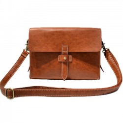 Bolso de hombro de la bolsa de mensajero de la captura de la cerradura del metal de la PU del negro de Brown pequeño retro