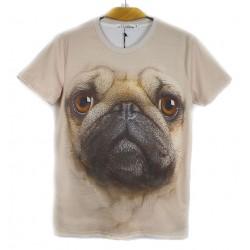 Camiseta original 3D pareja estereoscópica animal patrón