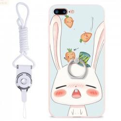 Linda Animales Conejo Gato Cerdo Fresco Flores Iphone 7/7 plus / 8/8 más carcasas de iPhone de dibujos animados
