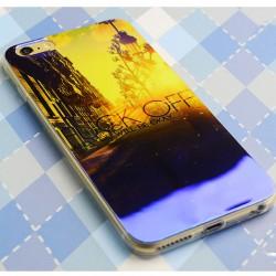 Brillante La ciudad puesta del sol de la salida del sol del gel de sílice delgadamente la caja suave para Iphone 5 / 5S / 6 / 6Plus