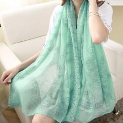 Bufanda azul y blanca del mantón de la porcelana Bufanda dual del protector solar de la muchacha de la toalla de playa