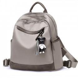 Ocio Oxford gris nylon viaje multifunción mochila escolar