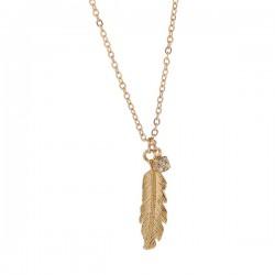 Collar elegante de Angel's Diamond Feather Pendant