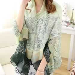 Bufanda del mantón del paño grueso y suave de la bufanda del paño grueso y suave de la bufanda del chal de la flor de las mujeres