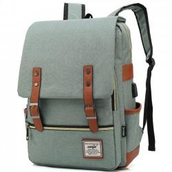 Ocio doble cinturón bolso de la universidad de gran espesor gruesa chica de interfaz USB mochila escolar