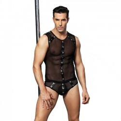 Sexy Bar Performance Clothing Male Rivet Uniform Temptation Man Conjoined Lingerie