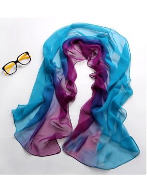 Blue fix Purple tie-dye gradient infinity scarf