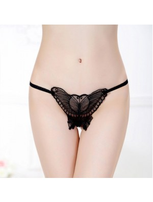 Sexy mariposa hueco ropa interior pantalones mujeres encaje lencería íntima