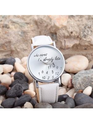 Reloj de PU de metal digital simple de moda