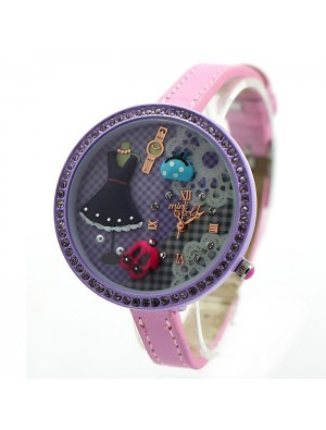 Purple Cute Princess Life Polymer Clay Watch