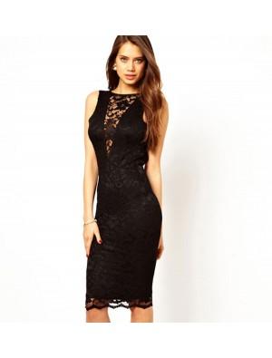 Sexy New Black Lace Halter Slim Dress &Party Dress